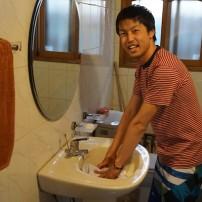 初めて服を手洗いしました