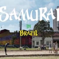 ブラジルのストリート少年に足技を挑む侍!